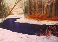 Wintery Scene in Vermont