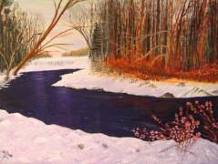 Wintery Scene in Vermont>